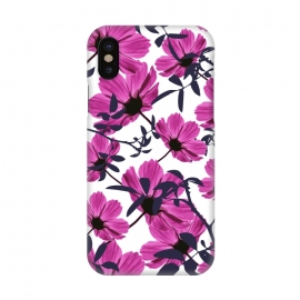 iPhone X  Floral Explorers  (White)  by Zala Farah