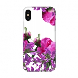 iPhone X  Hiding Pink Flowers by Zala Farah