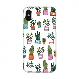 iPhone X  cacti in pots 2 by Laura Grant (cacti,cactus,house plant,plant,plant pot,crazy plant lady)