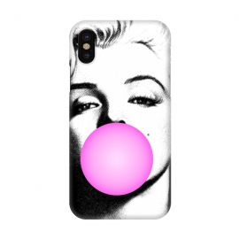 iPhone X  Marilyn Chewing Gum Bubble by  (marilyn,art pop,art,trending,monroe,actress,movie star)