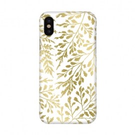 iPhone X  Foliage Gold by Caitlin Workman