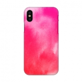 iPhone X  Watercolor Pink by Caitlin Workman