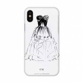 iPhone X  Little Black Ball Gown Dress by
