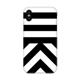 iPhone X  Black Stripes by Caitlin Workman