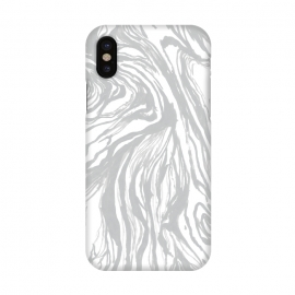 iPhone X  Gray Marble by Caitlin Workman
