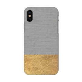 iPhone X  Color Blocked Gold and Grey by Caitlin Workman