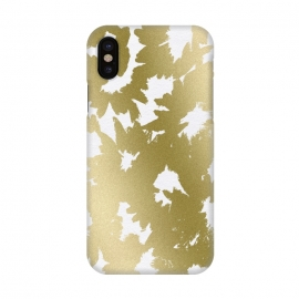 iPhone X  Gold Floral by Caitlin Workman