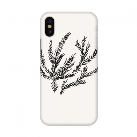 iPhone X  Summer Coral Fern by Caitlin Workman