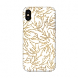 iPhone X  Gold Ferns by Caitlin Workman