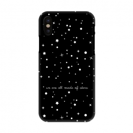 iPhone X  We are all made of stars by Stefania Pochesci (space,stars,black,quote)