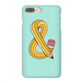 iPhone 8/7 plus  Ampersand Pencil Green by Coffee Man (ampersand, type, pencil, pen, school, back to school, fun, funny, creative, twister, letter,lettering)
