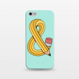 iPhone 5/5E/5s  Ampersand Pencil Green by Coffee Man (ampersand, type, pencil, pen, school, back to school, fun, funny, creative, twister, letter,lettering)