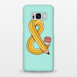 Galaxy S8+  Ampersand Pencil Green by Coffee Man