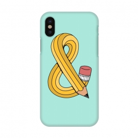 iPhone X  Ampersand Pencil Green by Coffee Man