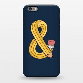 iPhone 6/6s plus  Ampersand pencil blue by Coffee Man