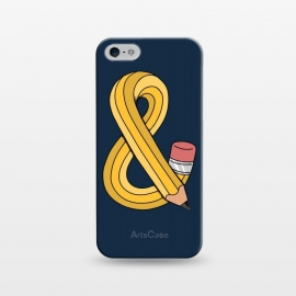 iPhone 5/5E/5s  Ampersand pencil blue by Coffee Man