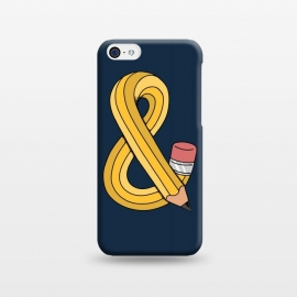 iPhone 5C  Ampersand pencil blue by Coffee Man
