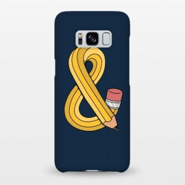 Galaxy S8+  Ampersand pencil blue by Coffee Man