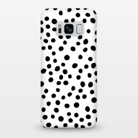 Galaxy S8+  Singularity-v2  by Uma Prabhakar Gokhale (graphic design, pattern, polka dots, black, white, random, abstract, dots)