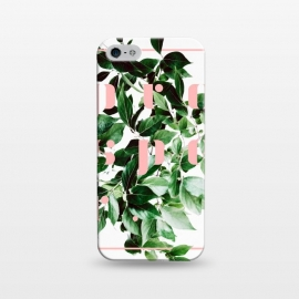 iPhone 5/5E/5s  Prosper-v2 by Uma Prabhakar Gokhale (graphic design, digital manipulation, paint filter, paint effect, grow, prosper, botanical, nature, typography, pink, green, exotic, growth, plant)