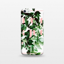 iPhone 5C  Prosper-v2 by Uma Prabhakar Gokhale (graphic design, digital manipulation, paint filter, paint effect, grow, prosper, botanical, nature, typography, pink, green, exotic, growth, plant)
