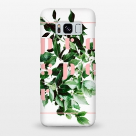 Galaxy S8+  Prosper-v2 by Uma Prabhakar Gokhale (graphic design, digital manipulation, paint filter, paint effect, grow, prosper, botanical, nature, typography, pink, green, exotic, growth, plant)