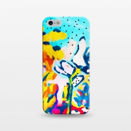 iPhone 5/5E/5s  Floral Graffiti by Uma Prabhakar Gokhale (acrylic, bold, bright, floral, nature, exotic, blossom, bloom, summer, garden, botanical, plants, flowers)