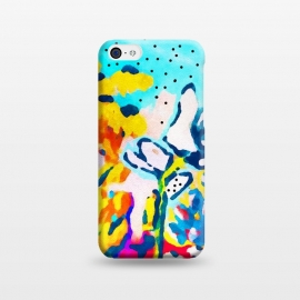 iPhone 5C  Floral Graffiti by Uma Prabhakar Gokhale (acrylic, bold, bright, floral, nature, exotic, blossom, bloom, summer, garden, botanical, plants, flowers)