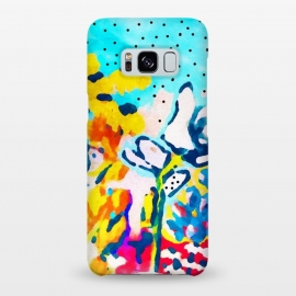 Galaxy S8+  Floral Graffiti by Uma Prabhakar Gokhale (acrylic, bold, bright, floral, nature, exotic, blossom, bloom, summer, garden, botanical, plants, flowers)