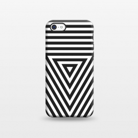 iPhone 5C  PLACE Cube by Sitchko Igor (cube, geometric, geometry, minimal, minimalistic, triangle, lines, black, white, black and white, vector, techno, deephouse)