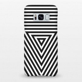 Galaxy S8+  PLACE Cube by Sitchko Igor (cube, geometric, geometry, minimal, minimalistic, triangle, lines, black, white, black and white, vector, techno, deephouse)