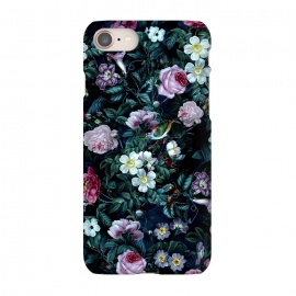 iPhone 8/7  Blue Night by Riza Peker (floral,roses,vintage,dark,pattern)