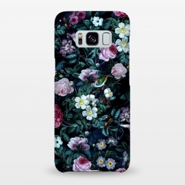 Galaxy S8+  Blue Night by Riza Peker (floral,roses,vintage,dark,pattern)