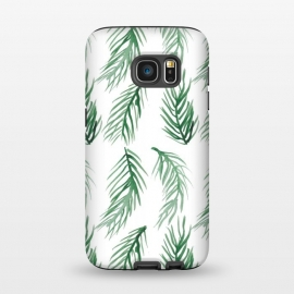 Galaxy S7  Watercolor Palm Leaves by ALIPRINTS Design Studio