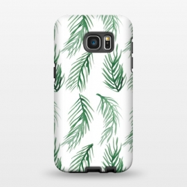 Galaxy S7 EDGE  Watercolor Palm Leaves by ALIPRINTS Design Studio