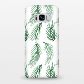 Galaxy S8+  Watercolor Palm Leaves by ALIPRINTS Design Studio