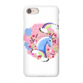 iPhone 8/7  Floral Unicorn by MUKTA LATA BARUA