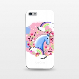iPhone 5/5E/5s  Floral Unicorn by