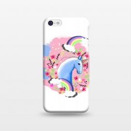 iPhone 5C  Floral Unicorn by MUKTA LATA BARUA