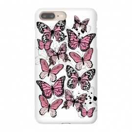 iPhone 8/7 plus  Stylish Pink Butterflies by