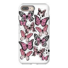 iPhone 8/7 plus  Stylish Pink Butterflies by Martina (animal, nature,butterfly,pink ,feminine,modern,stylish,pretty,girlie,cute,sweet,butterflies)