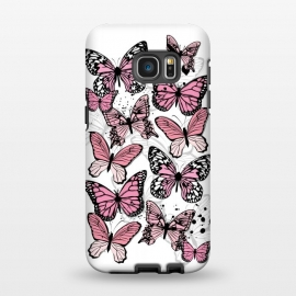 Galaxy S7 EDGE  Stylish Pink Butterflies by Martina