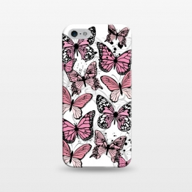 iPhone 5/5E/5s  Stylish Pink Butterflies by Martina