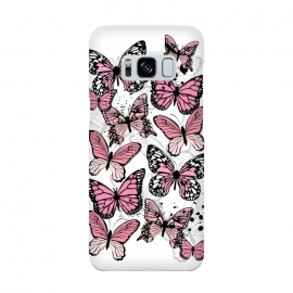 Galaxy S8  Stylish Pink Butterflies by Martina