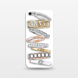 iPhone 5/5E/5s  Stack of Brand Designer Bracelets by Martina