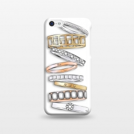 iPhone 5C  Stack of Brand Designer Bracelets by Martina (pile of bracelets,stack of bracelets,fashion,designer,brand,illustration, jewelry,jewellery,accessories,gold,silver,modern,stylish,pretty,feminine, fashionable,girlie,eye candy)