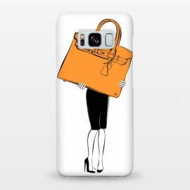 Galaxy S8+  Big Hermes Bag by Martina (fashion,fashionable,modern, stylish, feminine,girlie,cool,cute,pretty,woman,illustration, drawing,bag, handbag,designer bag,hermes, birkin,accessory)