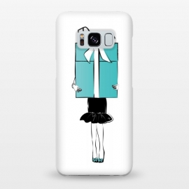 Galaxy S8+  Big Gift girl by Martina (fashion, fashionable, stylish, modern, feminine, pretty, girlie, art,artwork, illustration, drawing, woman, girl, gift for her,gift, present,big, surprise,birthday,mint, turquise, tiffany,blue,tiffany 's blue)