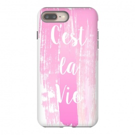 C'est la vie pink watercolour by Martina