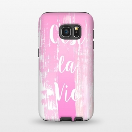 Galaxy S7  C'est la vie pink watercolour by Martina